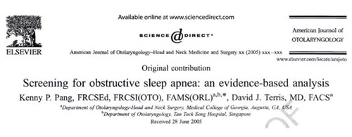 screening for obstructive sleep apnea