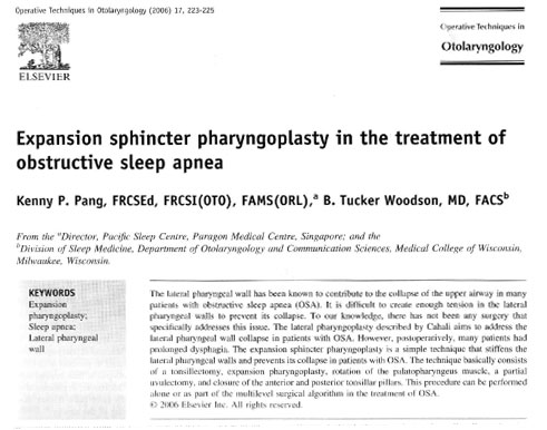 expansion sphincter pharynoplasty in the treatment of osa